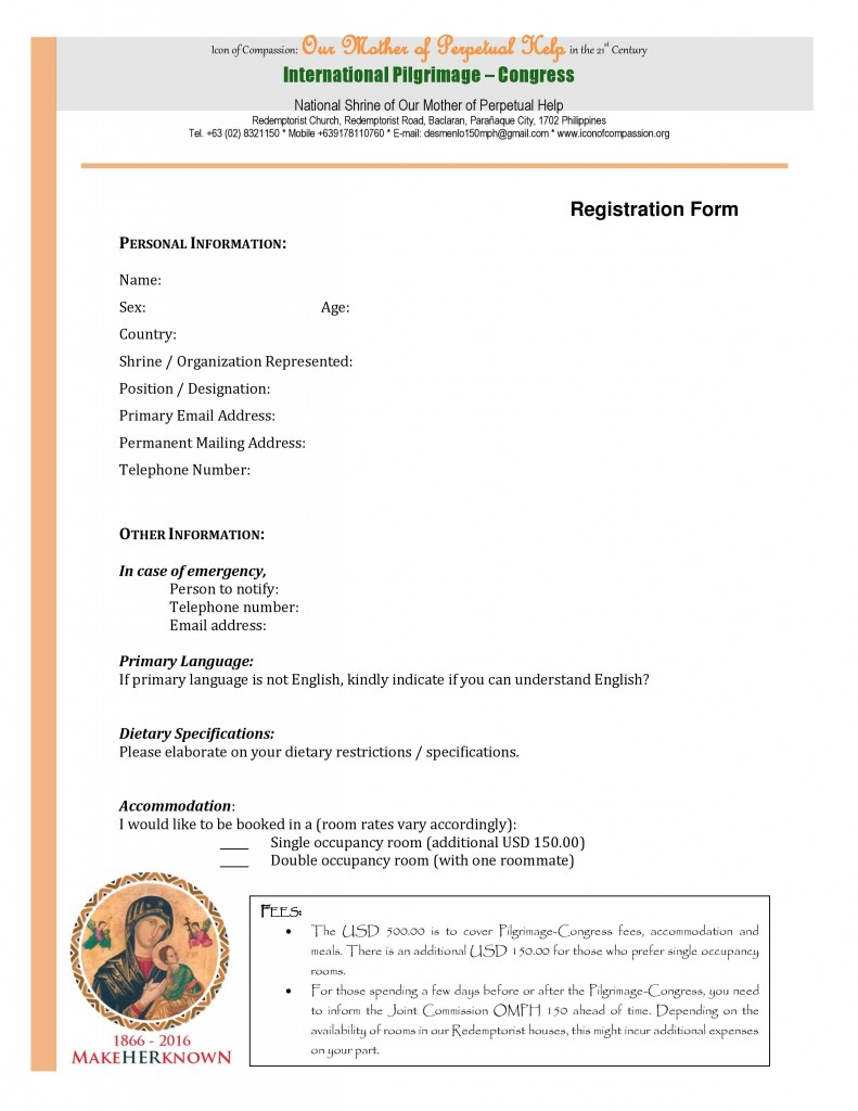 Icon of Compassion Registration Form