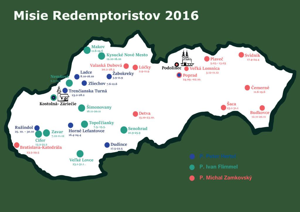 Misie 2016 Mapa