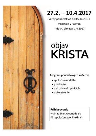 Kurz Objav Krista (Radvaň) @ Slovensko