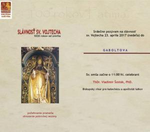 Slávnosť sv. Vojtecha v Gaboltove