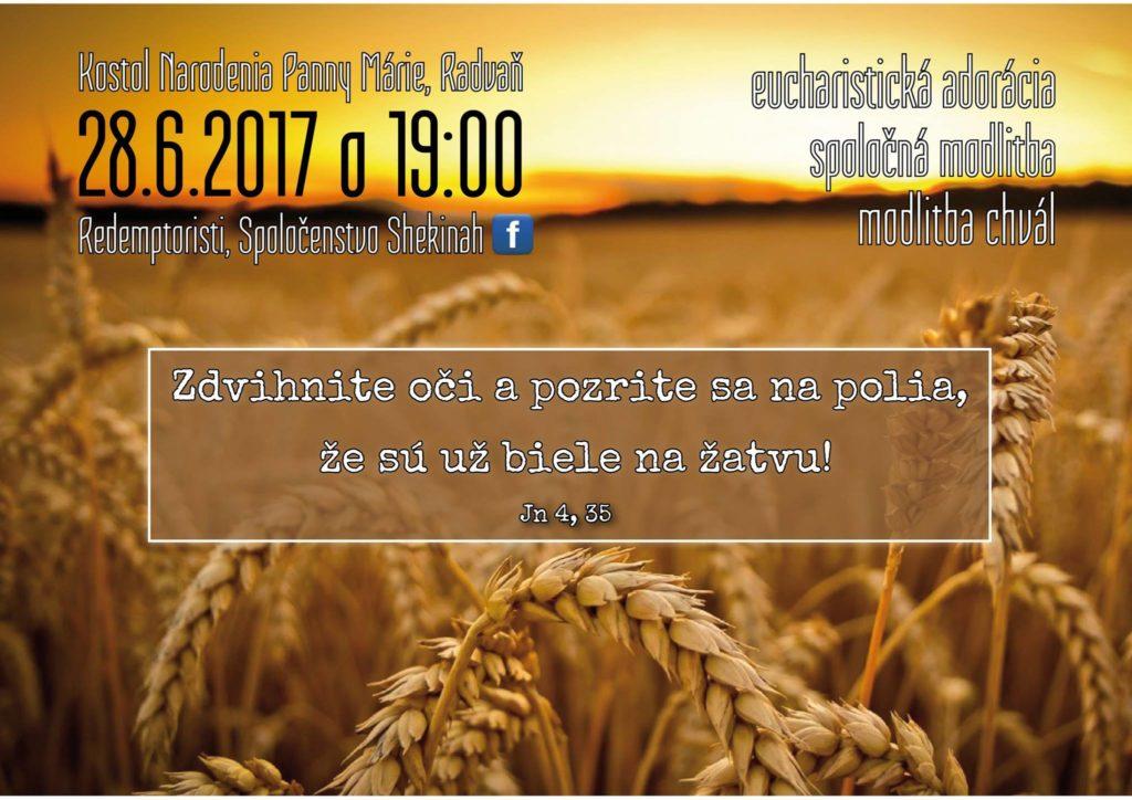 Radvaň -modlitba chvál so spoločenstvom Shekinah @ Slovensko