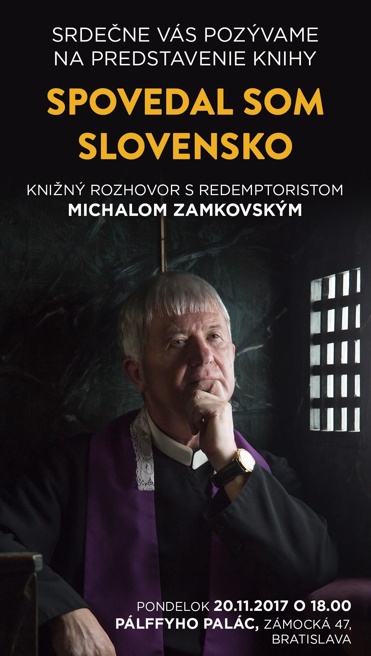 Predstavenie knihy Spovedal som Slovensko v Bratislave a Košiciach