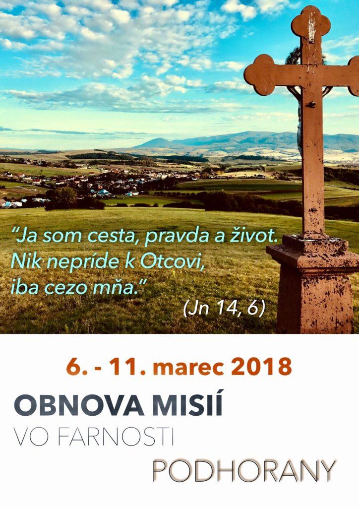 Podhorany pri Prešove - obnova misií