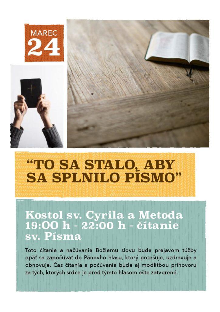 Čítanie sv. Písma (Puškinova, BA)
