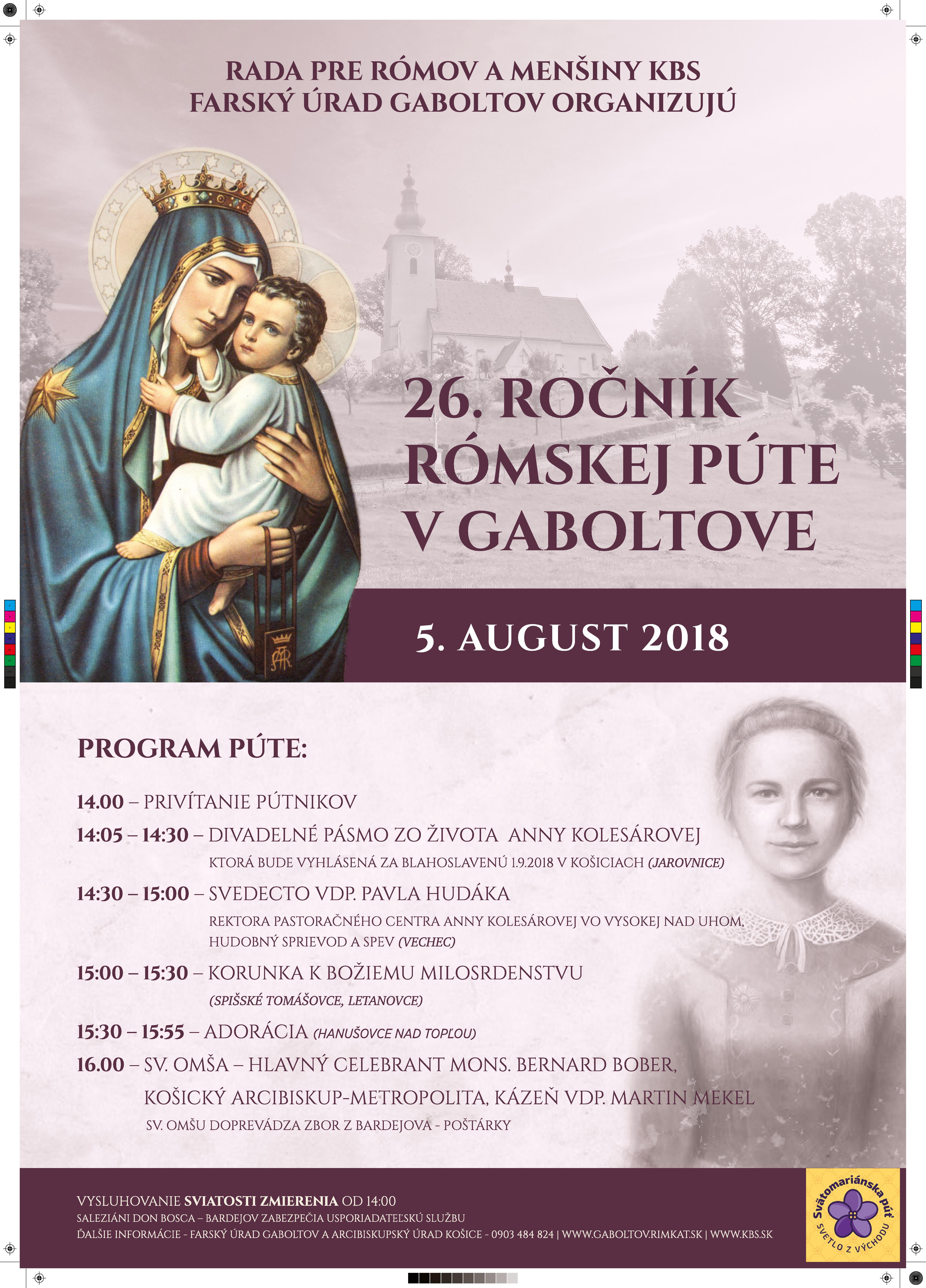 26. ročník rómskej púte v Gaboltove