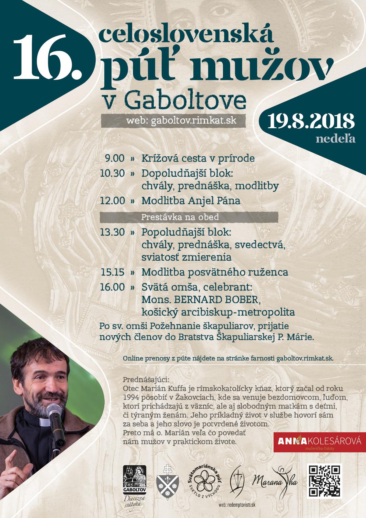 16. celoslovenská púť mužov v Gaboltove