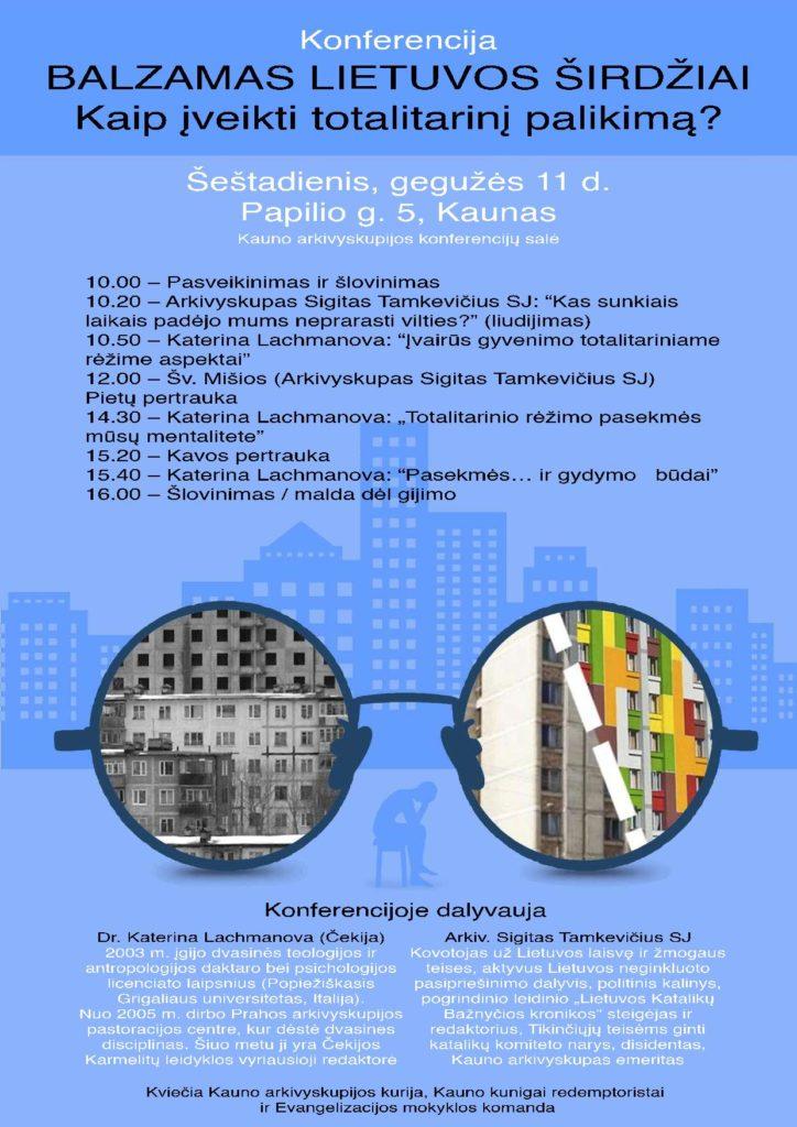 Konferencia s Kateřinou Lachmanovou (Kaunas)