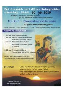 Deň otvorených dverí kláštora redemptoristov v Kostolnej – Záriečí